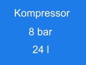 Kompressor 8 bar 24 l